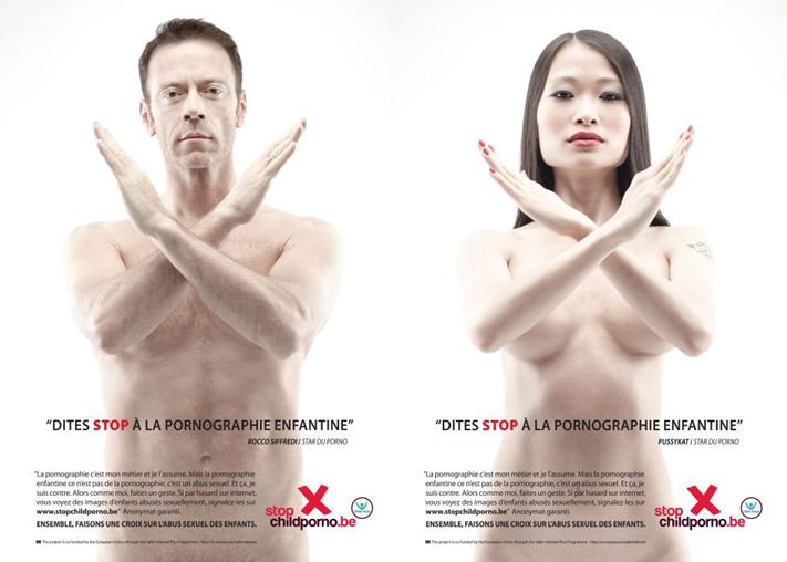 Haz una X a la pornografía infantil