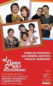 """00. Perú: Retrato de familia de Ciudadaníasx participó en el evento """"El Amor no discrimina"""" organizado por la Red Peruana TLGB"""