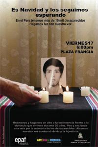 """17. Perú: Equipo Peruano de Antropología Forense realizó el evento """"Es Navidad y los seguimos esperando"""""""