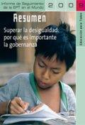 Informe de Seguimiento de la Educación en el Mundo 2009: Superar la desigualdad: por qué es importante la gobernanza