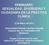 01. Perú: Se realizó seminario: Sexualidad, Diversidad y Ciudadanía en la Práctica Clínica