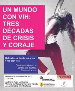 """16. Perú: Se realizó conversatorio con Thomas Lebrun """"Un mundo con VIH: tres décadas de crisis y coraje"""""""