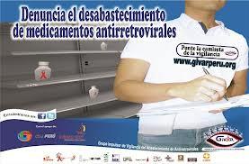 13. Perú: Personas con VIH/Sida pueden denunciar desabastecimiento de medicamentos de manera online