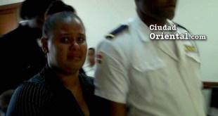 La condenada Elizabeth Rodríguez Ortiz, a la salidad del tribunal.