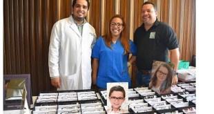 Los doctores participantes en la jornada oftalmológica Juan Pablo Lagos, Ismelda Patricia Mezón Infante y Milvio Ceballos