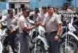 el general Ludwing Suardí Correa al distribuir las nuevas unidades policiales para el patrullaje en SDE.