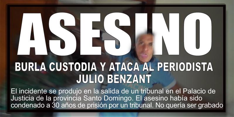 Vea lo que sucede al periodista Julio Benzant cuando graba dos asesinos