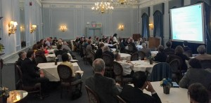 The dining hall in the Faculty Club hosting the Sandford Fleming Forum on May 2 | Future Proofing: How Resilience Planning Supports the Future Functionality and Value of Fixed Assets and Infrastructure