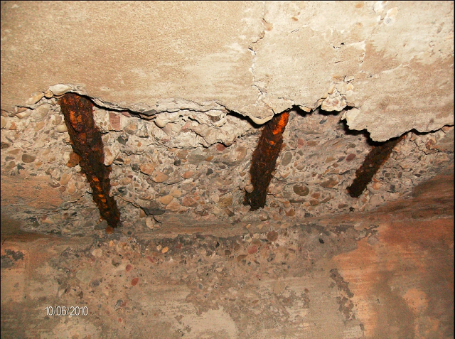How to repair corroded rc ceiling plaster of a building civilblog org - How put cement foundations ceilings ...