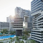 Concrete blocks layout adds personality to Singapore residential complex
