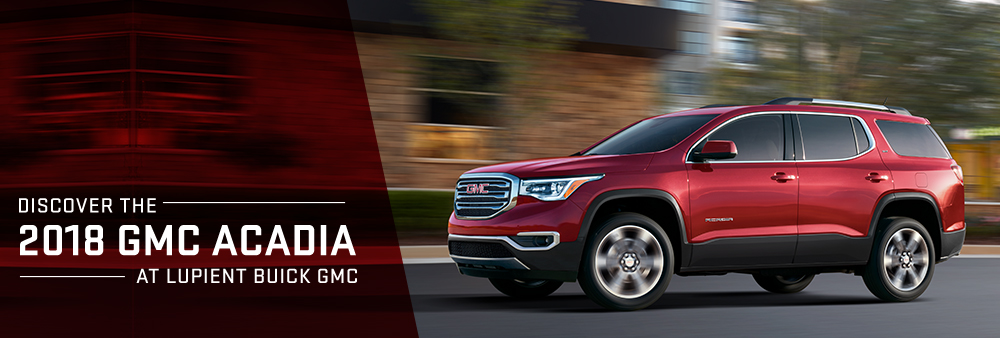 2018 GMC Acadia For Sale   Lupient Buick GMC Dealership The 2018 GMC Acadia is available at Lupient Buick GMC Golden Valley MN