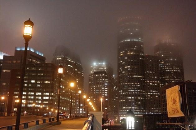 Boston Seaport Night