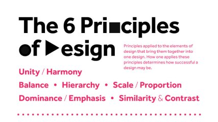 Los seis principios del diseño en una infografía