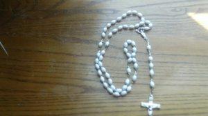 white rosary