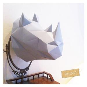 Un rhino en guise de deco rhinoceros decoration pliage origamihellip