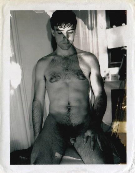Mark Morrisroe, Seated Nude Man, Polaroid