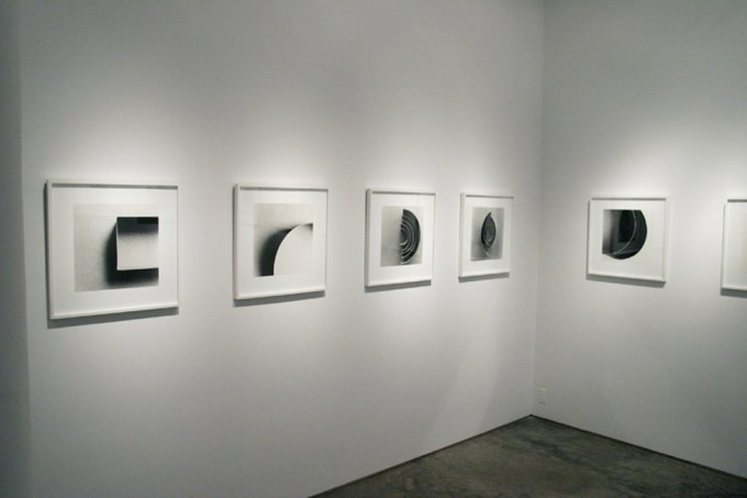 Ion Zupcu, New works on paper, installation image 2