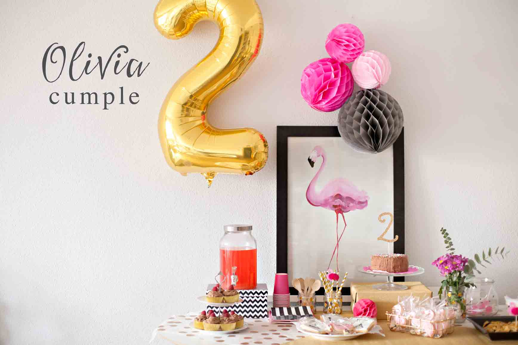 fiesta de cumpleaos con flamencos flamingo birthday party