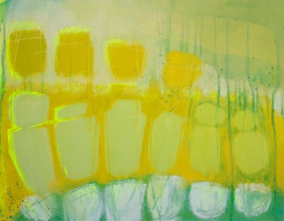 """""""Yellow Song"""" Oil on paper 46cm x36cm"""