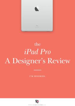 iPad Pro Designer's review