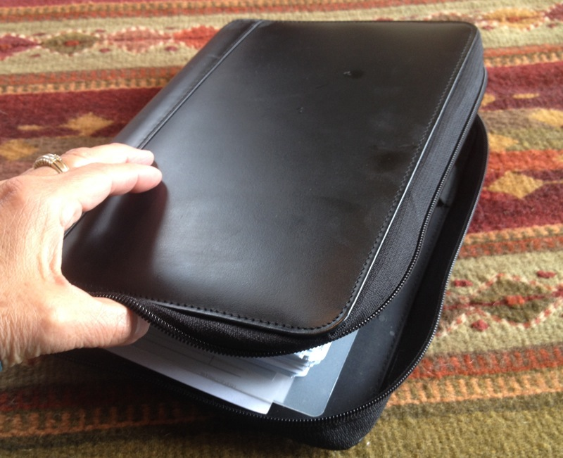 The zippered pleather Franklin Covey Daily Planner