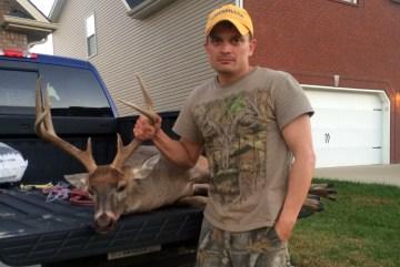 Matthew Wilder's 8 point 190 lb deer harvested in Providence, Kentucky in November.