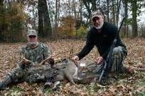 Steve Christy and Larry Hogue with their 8-pt bucks harvested in Montgomery County during the 2013 deer season.