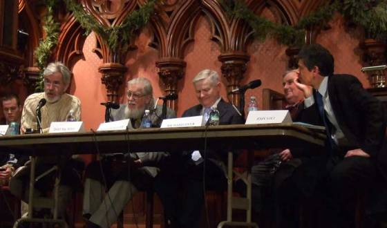 <p>Chris Lydon, Dave MacNeil, Richard Dyer, John Voci</p>