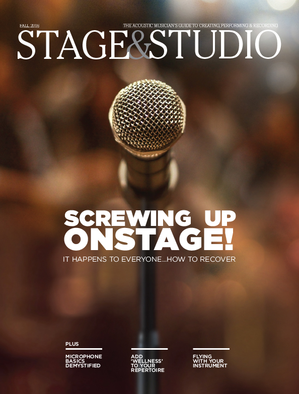 Stage and Studio Summer 2016 Recording Perfoming Tips for Musicians