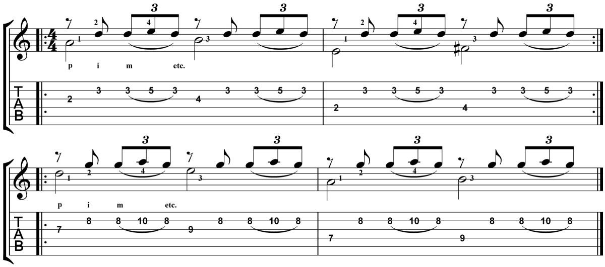 Classical Guitar Lesson Tarrega Recuerdos de la Alhambra Micro Study 4