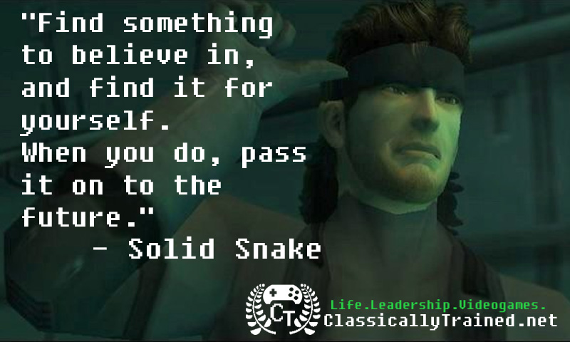 Metal Gear Solid quote solid snake classically trained video game