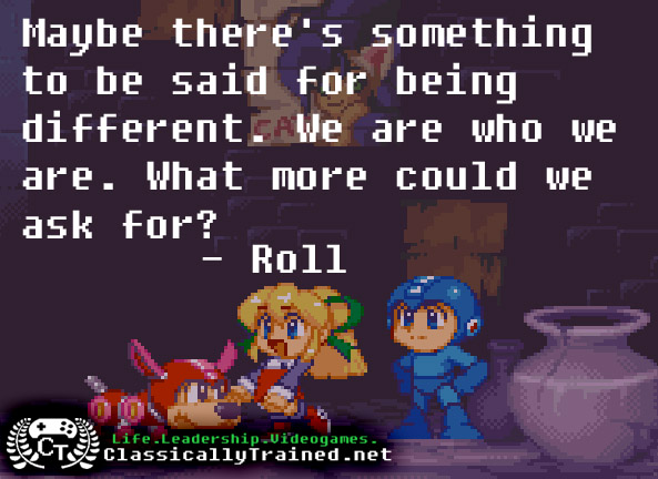 video game quotes megaman be yourself