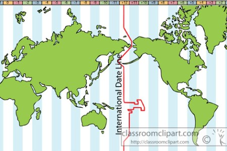 Map Showing International Date Line