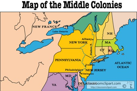 gallery for > middle colonies map with rivers
