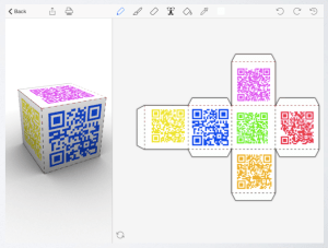 App Combo: Foldify and QR Codes for Scannable Activities