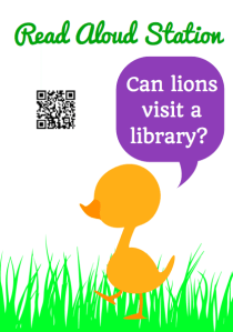 Augmented Reality Read Aloud Stations (with QR codes too!)