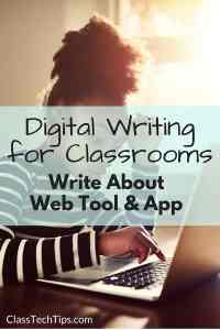Digital Writing for Classrooms- Write About Web Tool & App-min