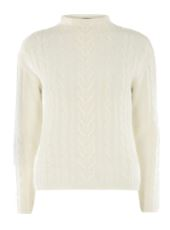 ivory cable sweater