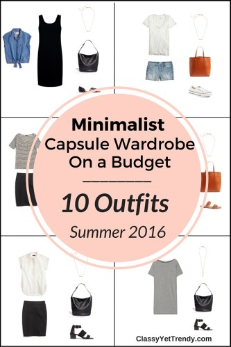 Create a Capsule Wardrobe On a Budget: 10 Minimalist Outfits