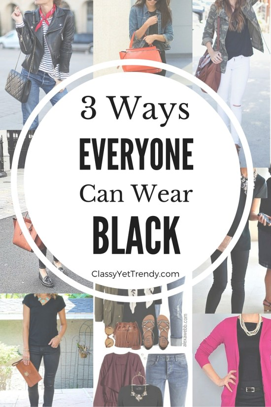 3 Ways Everyone Can Wear Black