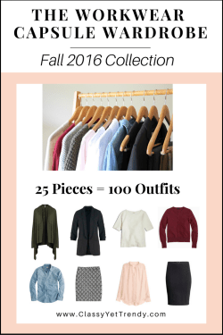 The Workwear Capsule Wardrobe E-Book: Fall 2016 Collection