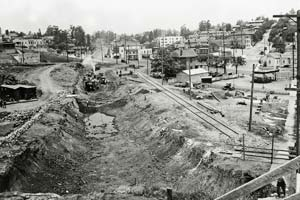 Building the Pacific Electric rail line