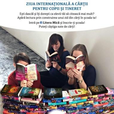 Afis Liniste, copiii citesc
