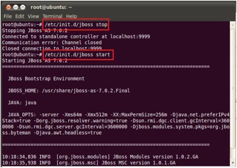Restart JBoss Service