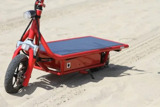 solar powered electric scooter