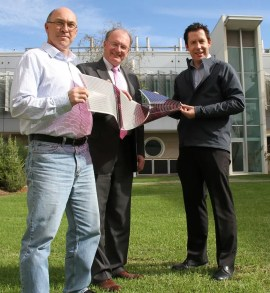 (L-R) Dr David Jones, Professor Andrew Holmes and Dr Scott Watkins.
