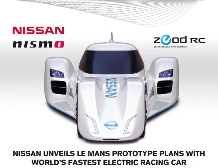 auto nissan race car flat
