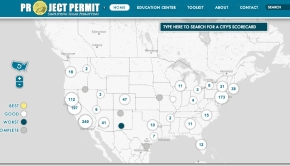 Screenshot of Project Permit website.