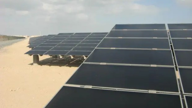 Solar farm in Masdar City, Abu Dhabi, UAE.  Image Credit: Marika Krakowiak / CleanTechnica