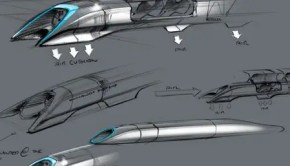 Hyperloop illustration.  Image Credit: SpaceX